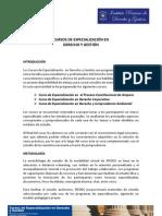 Informacion Cursos de Especializacion IPEDEG