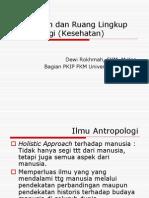 Pengertian Dan Ruang Lingkup Antropologi