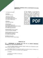 Acta Pleno 14 de Septiembre de 2012