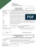 Formulir Pendaftaran Lomba Solo Vokal