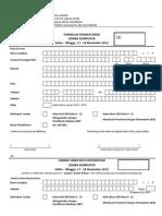 Formulir Pendaftaran Lomba Komputer