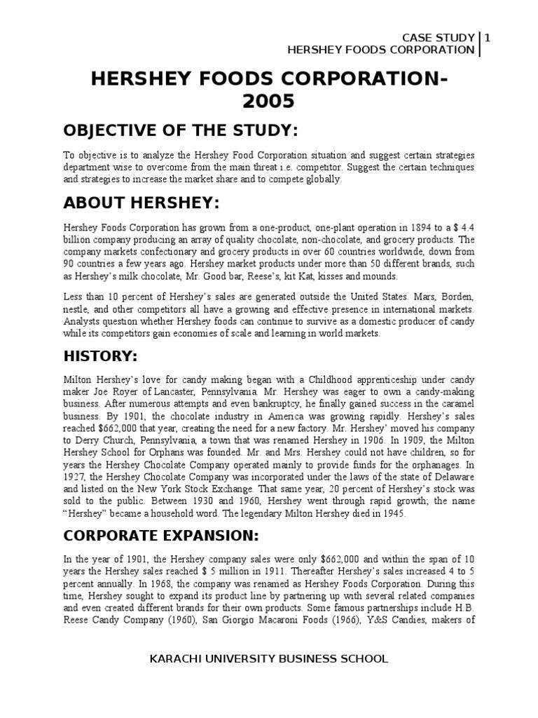 international marketing case hershey essay