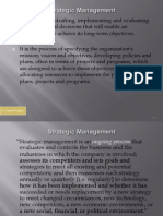 1) Strategic Planning Process