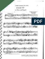 Naumann Duet for Oboe and Bassoon