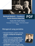 Reinhold Niebuhr – A Theologian and Classical Realist