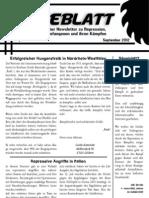 Sägeblatt – anarchistischer Newsletter zu Repression, Solidarität, Gefangenen und ihren Kämpfen – September 2012