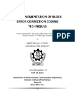 VLSI Implementation of Block Error Correction Coding Techniques