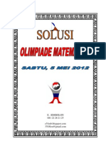 Solusi Olimpiade Mat SMP 2012