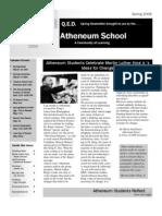 Atheneum Newsletter *Spring 2008*