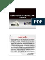 Plan de Desarrollo Institucional 2011 - 2014_ver2