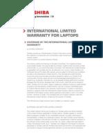 TOSHIBA International Warranty Laptops En