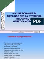 d Riepilogo 2a Verifica genetica agraria uniss