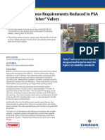 Valve Maintenance Reduced in PSA