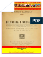 Libro No. 347. Filosofía y Socialismo. Labriola, Antonio. Colección Emancipación Obrera. Octubre 20 de 2012