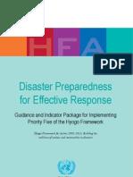 Disaster Preparedness for Effective Response OCHA