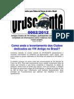 OFuscante - Informativo Para Clubes de Fusca de Todo Brasil - 0002-2012