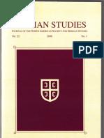 Sotirovic Serbian Studies Journal Serbia Diplomatic Preparations, Vol. 22, 2008 (2010)