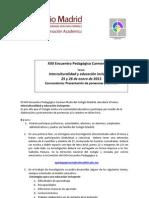Convocatoria Interna Encuentro Pedagico 2013-1