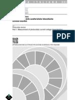Fotovoltaico Caratteristiche Corrente Tensione Cei 0082-01, Cei en 60904-1 [04 1998]