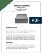 External Hard Drive Technical Description by Antonio Brancatella