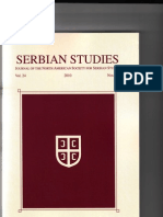 Sotirovic Serbian Studies Journal, The Memorandum by Stratimirovic 1804, Vol. 24, 2010 (2012)