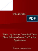 three leg inverter controlled induction motor for traction applications
