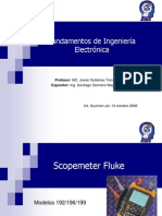 Osciloscopio Fluke Modelos 192/196/199