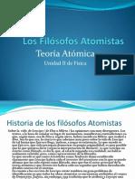Los Filósofos Atomistas