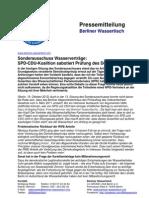 Pressemitteilung vom Berliner Wassertisch vom 19. Oktober 2012