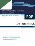 Encuesta política Asomao septiembre 2012