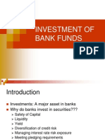 Investment of Bank Funds