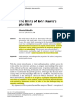 Mouffe - The Limits of John Rawlss Pluralism