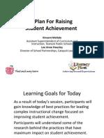 A Plan for Raising Student Achievement