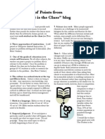 Transformation of Education Worksheets  7 Points Abraham S. Fischler Seminar List for Discussion