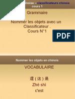 Cours de Chinois - Les Classificateurs Chinois