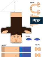 Messi Paper Toy