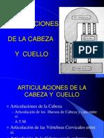 Articulaciones de La Cabeza y Columna Cervical