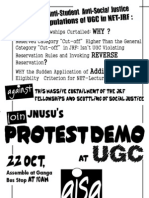 Join Jnusu's Protest Demo at Ugc on 22 October