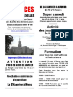 Annonces Du Pieu de Bruxelles 18janvier
