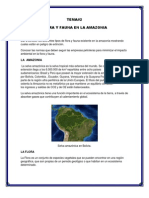 Flora y Fauna en La Amazonia