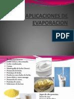 Aplicaciones de Evaporacion