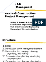CEE 498 Construction Project Management