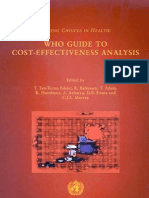 WHO Guide to Cost-Effectiveness Analysis