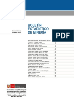 BOLETÍN ESTADISTCO DE MINERIA 10 Abril 2012