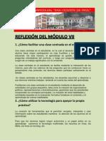 REFLEXIÓN DEL MÓDULO VII francisco