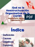 Que Es La Reestructuracion Organizativa de La CGTP