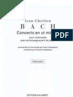 Johann Christian Bach - Cello Concerto in C Minor (Salabert)