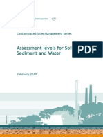 2009641 - Assessment Levels for Soil Sediment and Water - Web