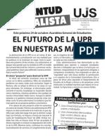 El futuro de la UPR en nuestras manos, Boletín #8, Septiembre 2012
