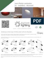 Gypsum Recessed Seamless and Trimless luminaires
